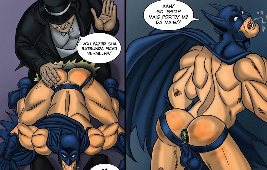 Pinguim enrabando o Batman – Comics